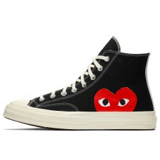 Кеды Converse x Comme Des Garcons PLAY Chuck 70 Black High 150204C