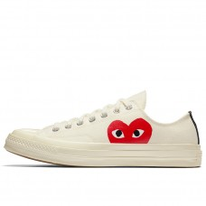 Кеды Converse x Comme Des Garcons PLAY Chuck 70 White Low 150207C